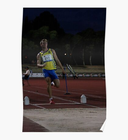 Adelaide Track Classic 2013 - Long Jump 12 Poster