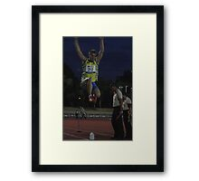Adelaide Track Classic 2013 - Long Jump 13 Framed Print