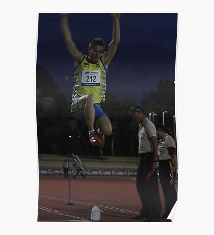 Adelaide Track Classic 2013 - Long Jump 13 Poster
