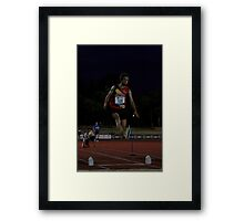 Adelaide Track Classic 2013 - Long Jump 15 Framed Print