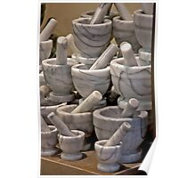 Alabaster Mortar and Pestles Poster