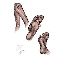 """Feet, 2014""  Photographic Print"