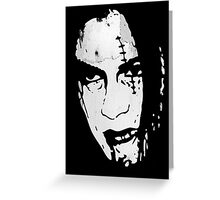 Bloody Scar Face - Cool Horror Grungy T-Shirt Design Greeting Card