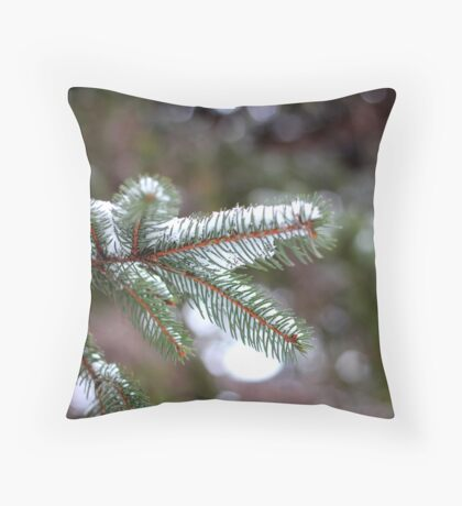 Pine Bokeh Throw Pillow