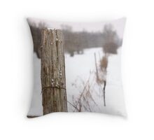 Fence Post Textured Throw Pillow