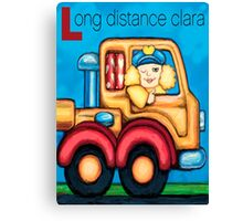 Long Distance Clara Canvas Print