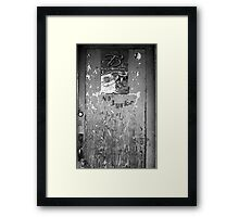 Red's Blues Club Door Framed Print