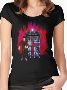 British Time lord Women's Fitted Scoop T-Shirt