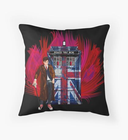 British Time lord Throw Pillow