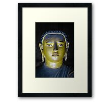 Buddha statue inside Maha Raja Viharaya or the Temple of the Great King (Cave No.2) Framed Print