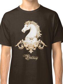 Vintage Heraldry Horse Crest Classic T-Shirt