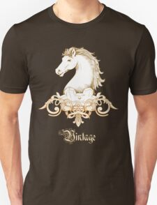 Vintage Heraldry Horse Crest T-Shirt