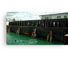 Supply Barge Canvas Print