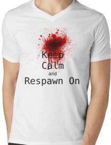 Keep Calm and Respawn on Mens V-Neck T-Shirt