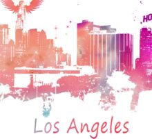 Los Angeles Skyline purple Sticker