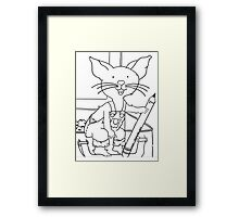 Mouse who wanted a cookie Framed Print