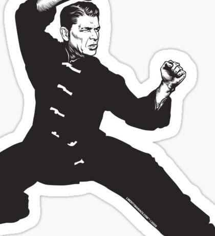 Kung Fu Reagan Sticker