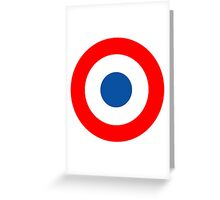 Roundel, Tricolore, cockade, French, Air Force, Bullseye, combat, aircraft, First World War Greeting Card