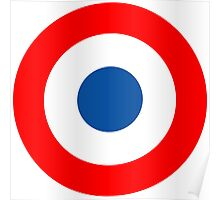Roundel, Tricolore, cockade, French, Air Force, Bullseye, combat, aircraft, First World War Poster