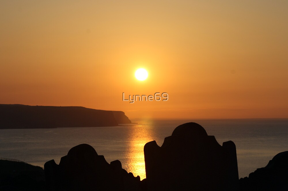 Sunset At St. Mary's Church Yard Whitby. by Lynne69