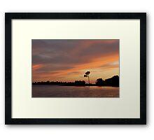Sunset Over the Sound Framed Print