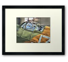 Spitfire Canopy - IWM Duxford - HDR Framed Print