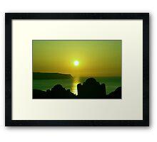 Gothic sunset Framed Print