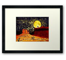 Desolate Desert Framed Print