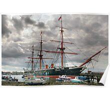 HMS WARRIOR Poster