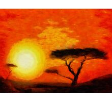 Sunrise Safari Photographic Print
