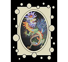 Chinese Dragon With Decorative Border Photographic Print