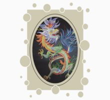 Chinese Dragon With Decorative Border Kids Tee