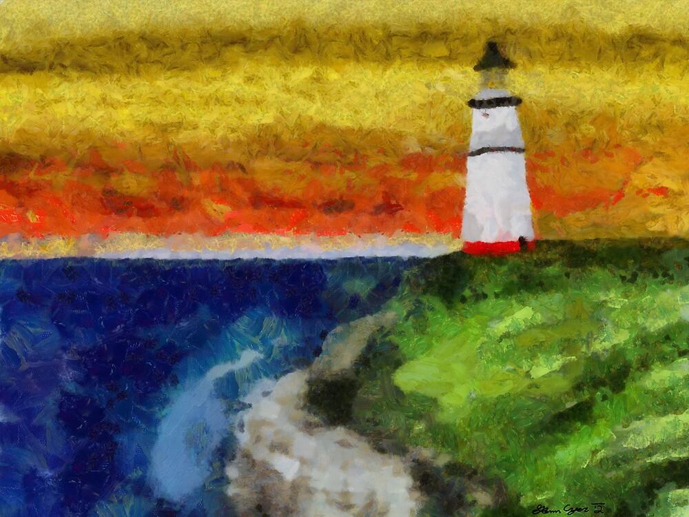Lonesome Lighthouse by Shamonue