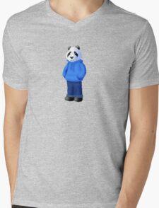 Panda Bear Mens V-Neck T-Shirt