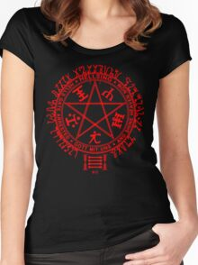 Anime - Hellsing Symbol (Red) Women's Fitted Scoop T-Shirt