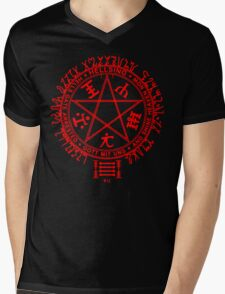 Anime - Hellsing Symbol (Red) Mens V-Neck T-Shirt