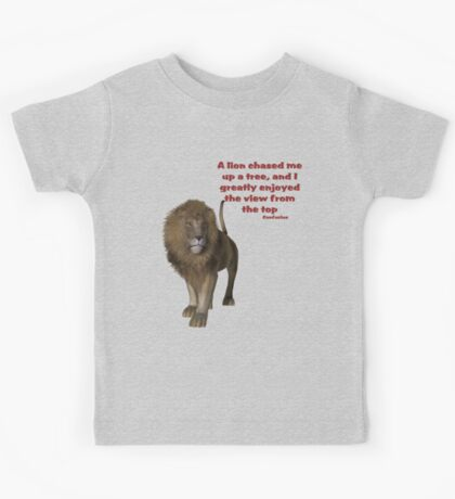 Lion Inspirational Confucius Quote Kids Tee
