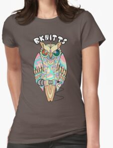 TRIPPY OWL Womens Fitted T-Shirt