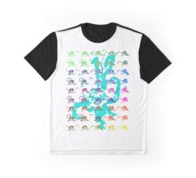 12 Monkeys - Rainbow Graphic T-Shirt