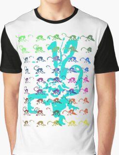 12 Monkeys - Rainbow Graphic T-Shirt