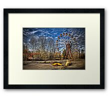 Prypiat/Chernobyl Abandoned Ferris Wheel Framed Print