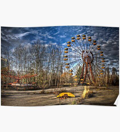 Prypiat/Chernobyl Abandoned Ferris Wheel Poster