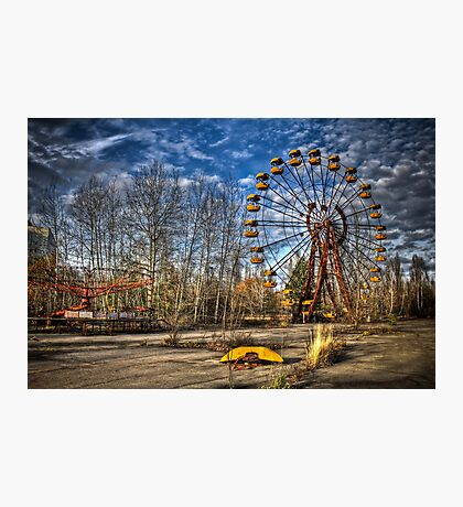 Prypiat/Chernobyl Abandoned Ferris Wheel Photographic Print