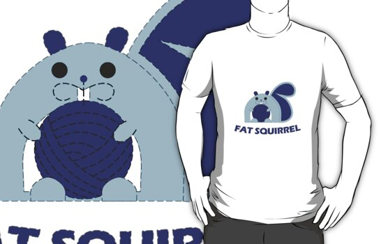 Fat Squirrel (blue) by Niharika Singhal
