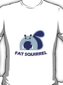 Fat Squirrel (blue) T-Shirt