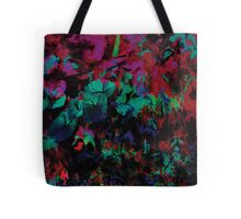 Flora Celeste Ruby Leaves  Tote Bag