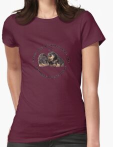 Dogs Make My Life Whole With Cute Rottweiler Puppies Womens Fitted T-Shirt