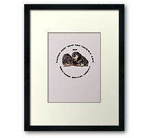 Dogs Make My Life Whole With Cute Rottweiler Puppies Framed Print