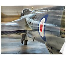 Hawker Hunter Reflections - Duxford - HDR Poster