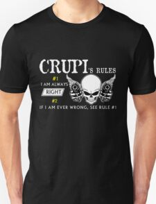 CRUPI Rule #1 i am always right If i am ever wrong see rule #1- T Shirt, Hoodie, Hoodies, Year, Birthday T-Shirt